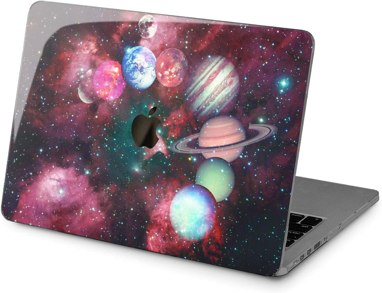 Cavka Hard Shell Case for Apple MacBook Pro 13 2019 15 2018 Air 13 2020 Retina 2015 Mac 11 Mac 12 Cute Yellow Star Protective Plastic Design Watercolor Planet Print Celestial Cover Space Laptop