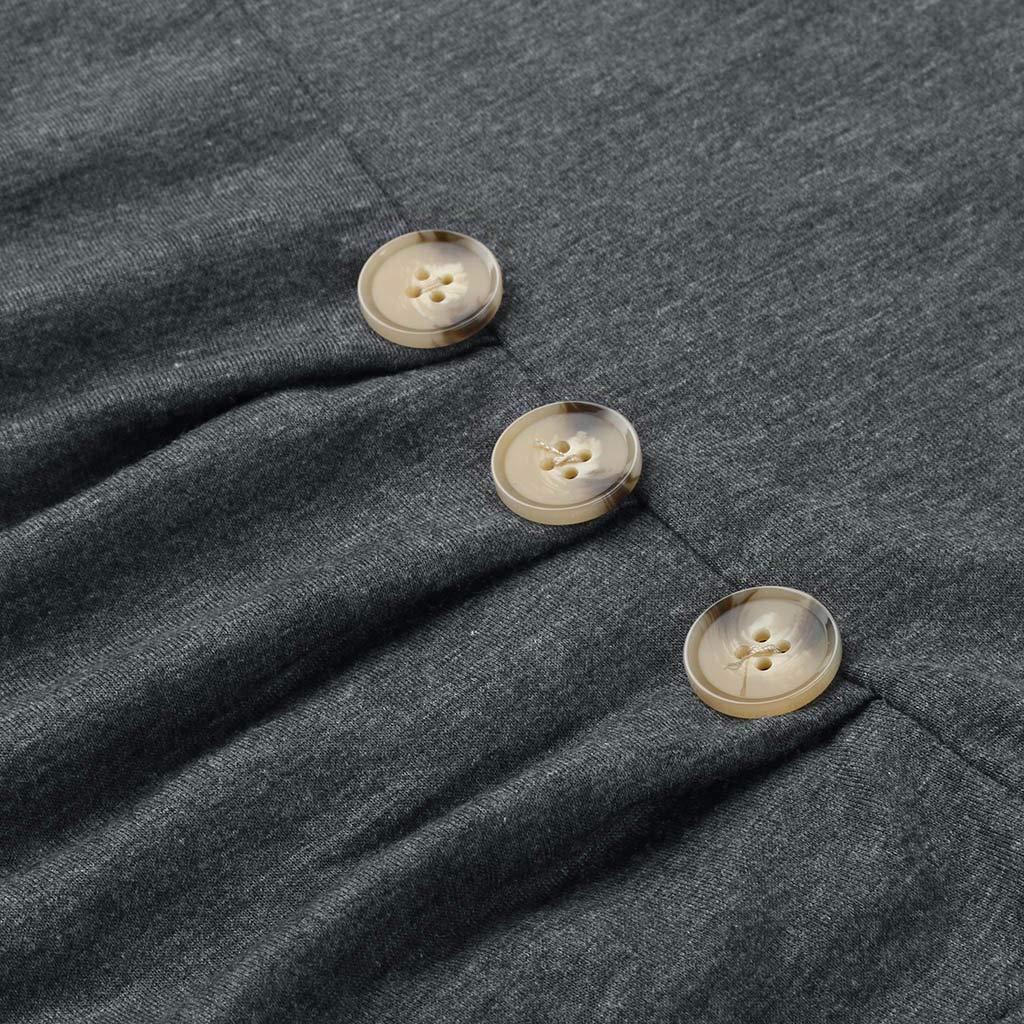 Damen Umstandskleidung Sommer L/ässiges Elegantes kurz/ärmliges einfarbiges Still-T-Shirt f/ür Schwangere