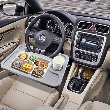 esumic car laptop eating steering wheel desk gray amazon co uk rh amazon co uk steering wheel desktop steering wheel desk walmart
