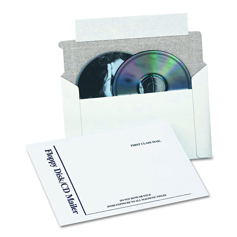 Quality Park E7265 Foam Lined Multimedia Mailer, 8 1/2 x 6, White (Box of 25)