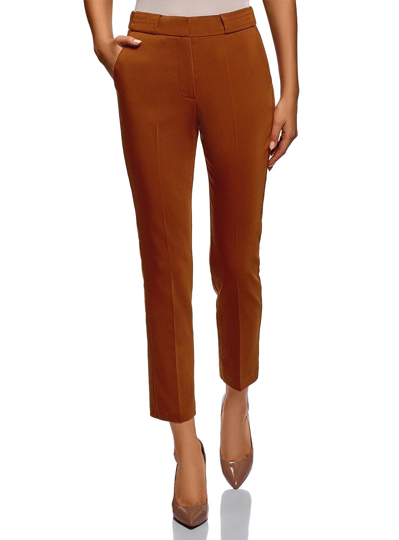 TALLA ES 38 / S. oodji Collection Mujer Pantalones Ajustados con Pinzas