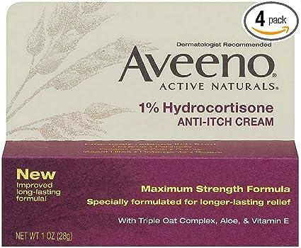 Crema antipicazón hidrocortisona aveeno 1