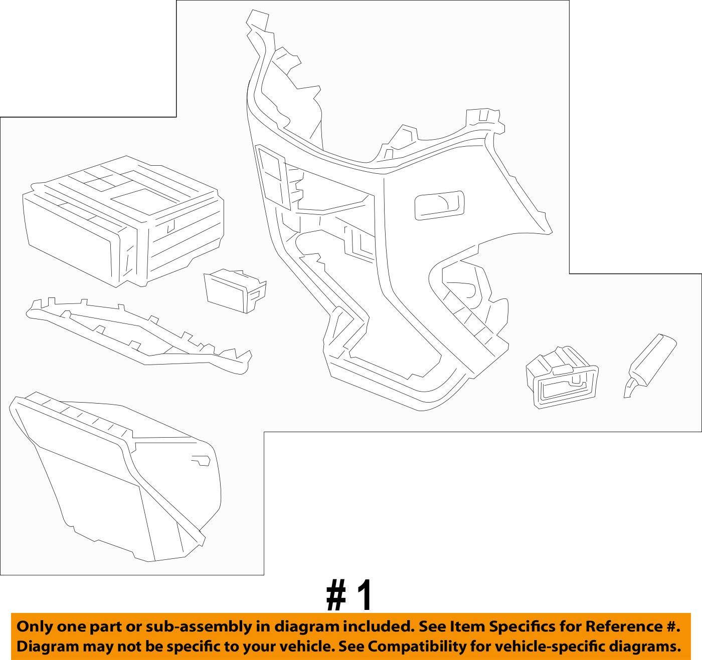 Honda Genuine 77299-TK8-A11ZB Center Console Assembly