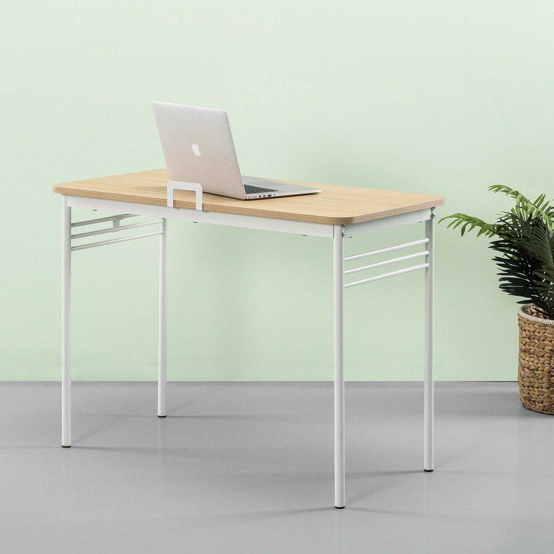 Zinus Retro Metal Framed Desk in Cream