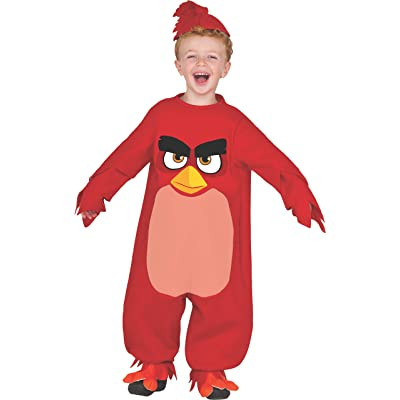 Rubie's Baby Angry Birds Movie Red Romper Costume, Toddler 2T: Clothing
