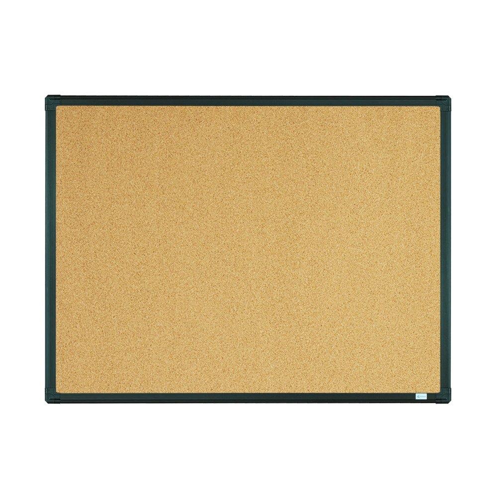 Lockways Bulletin Cork Board - Notice board 24 x 18 - Ultra-Slim Black Aluminium Frame U12118780809 For Home, School & Office (SET Including 10 Push Pins) (24 x 18'', Black)