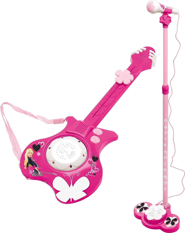 IMC 783959 Barbie - Guitarra eléctrica y micrófono de juguete, color rosa: Amazon.es: Juguetes y juegos