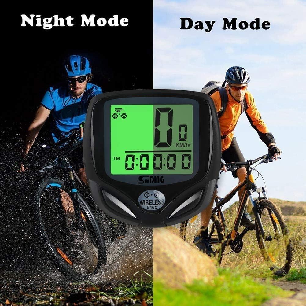 Suivi de distance et de relance en temps r/éel Compteur de vitesse Pour activit/és de cyclisme /Étanche Pour le cyclisme Compteur de v/élo Pezimu Sans fil