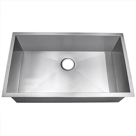 Single Basin Kitchen Sink 33 X 22 Golden vantage 33 x 22 x 9 undermount single basin 18 gauge golden vantage 33quot x 22quot x 9quot undermount single basin 18 gauge stainless workwithnaturefo