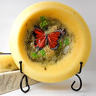 product image for Habersham - Butterfly Garden Wax Pottery Bowl 7 Inch With Free Stand