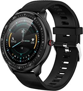 Fitness Tracker Watch Smart Watch for iOS Android Phone with Heart Rate Monitor Waterproof Activity Tracker Watch for Men Women Sports Smartwatch with Step Sleep Tracker Compatible with iPhone Samsung