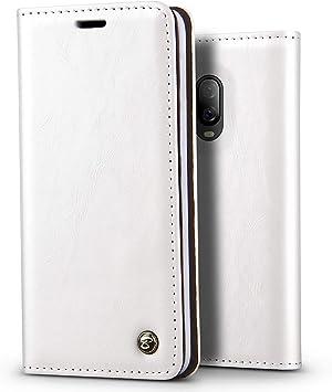 BELKA Funda OnePlus 6T - Estuche para teléfono Estilo de Libro Vintage Funda Tipo Billetera con Tapa Plegable de Cuero Brillante para Negocios [1 Ranura para Tarjeta] para OnePlus 6T: Amazon.es: Electrónica