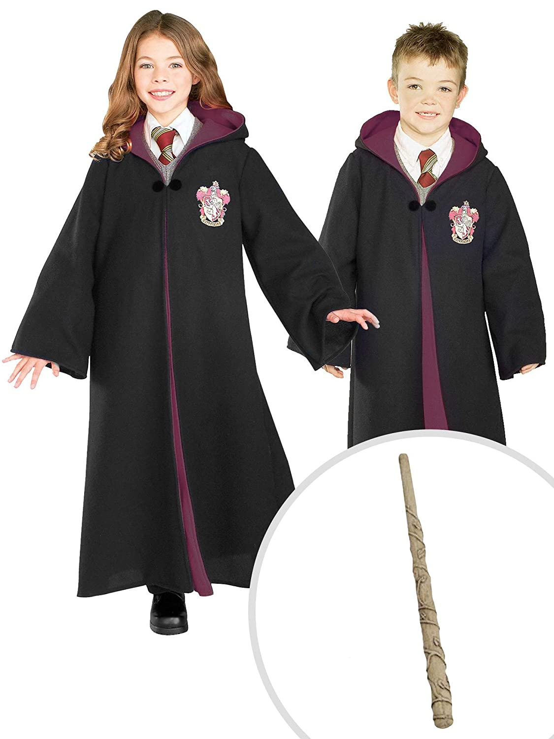 Costume Halloween Hermione.Harry Potter Gryffindor Costume Kit Deluxe Robe With Hermione Wand Kids