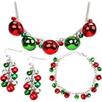 Your Little Lovely Jingle Bells Necklace Bracelet Earring - Christmas X-Mas Holiday Stocking Stuffers Accessories…