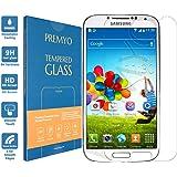 PREMYO verre trempé Samsung S4. Film protection Samsung Galaxy S4 avec un degré de dureté de 9H et des angles arrondis 2,5D. Protection écran S4