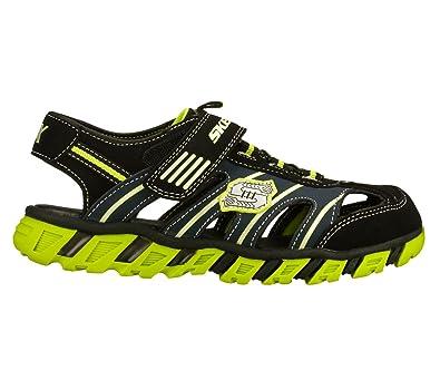 31fcb316333a Skechers Boys  S Lights Pillar Black Lime Boys 8