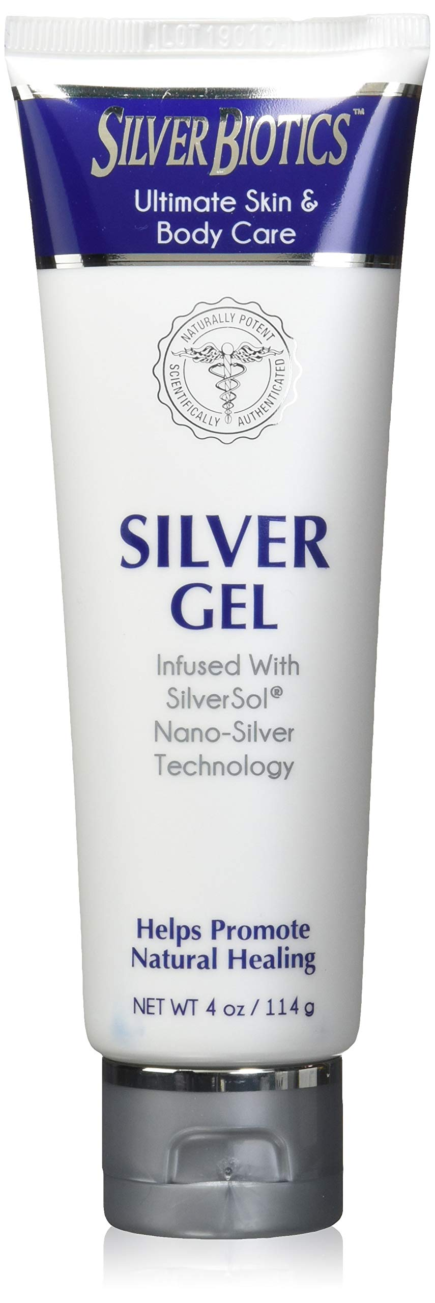 American Biotech Labs Silver Biotics Silver Gel Infused w/SilverSol Nano-Silver Technology 4oz, Pack of 2