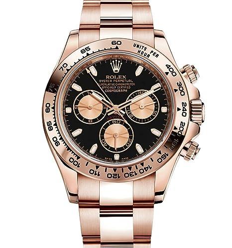 Rolex Daytona Everose Oro Reloj de mujer con esfera de color negro 116505 Box/papeles unworn 2014: ROLEX: Amazon.es: Relojes