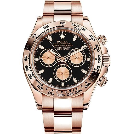 Rolex Daytona Everose Oro Reloj con esfera negra 116505 unworn 2016