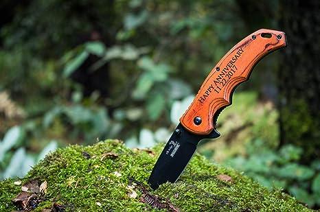 Engraved Groomsmen Gift - Personalized Knife - Custom Pocket Knives- Groomsman Husband Hunting Man Mens & Amazon.com : Engraved Groomsmen Gift - Personalized Knife - Custom ...