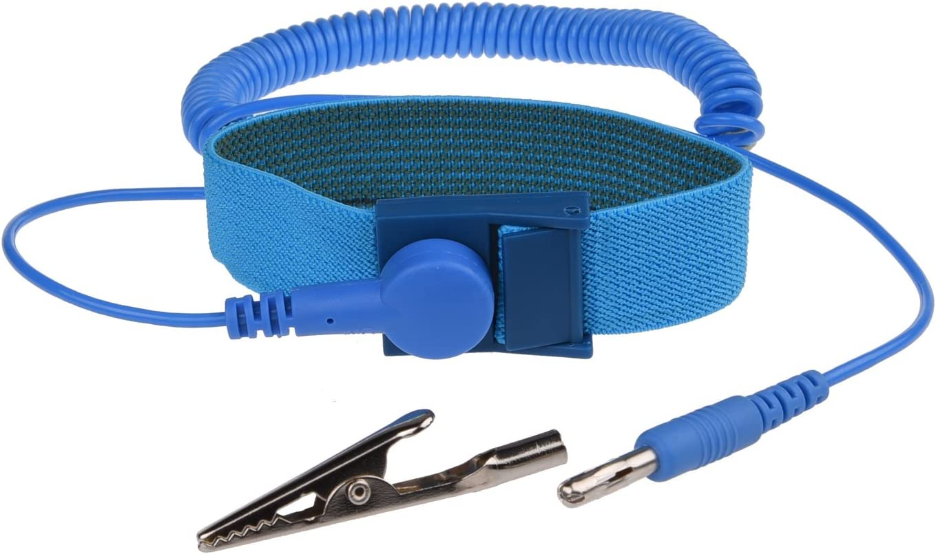 3x Anti Static Antistatic ESD Adjustable Wrist Strap Band Blue Coil Cord 6ft