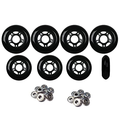 Player's Choice Outdoor Inline Skate Wheels 72mm/80mm Blk Hilo Roller Blade Hockey ABEC 5 Bearings : Sports & Outdoors