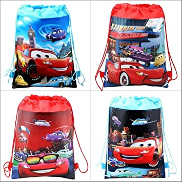 Amazon.com: 4pcs Diney Cars cordón mochilas niños escuela ...