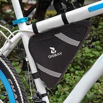 Triángulo bicicleta marco bolsa bicicleta bolsa de sillín ciclismo ...