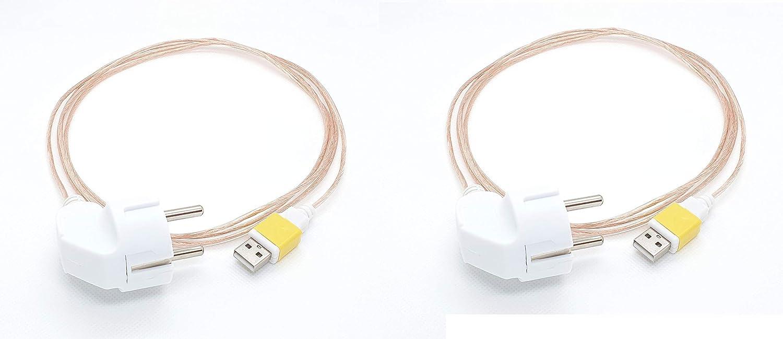 Cable USB de conexión a tierra para módem, box, ordenador, tv.Pack de 2