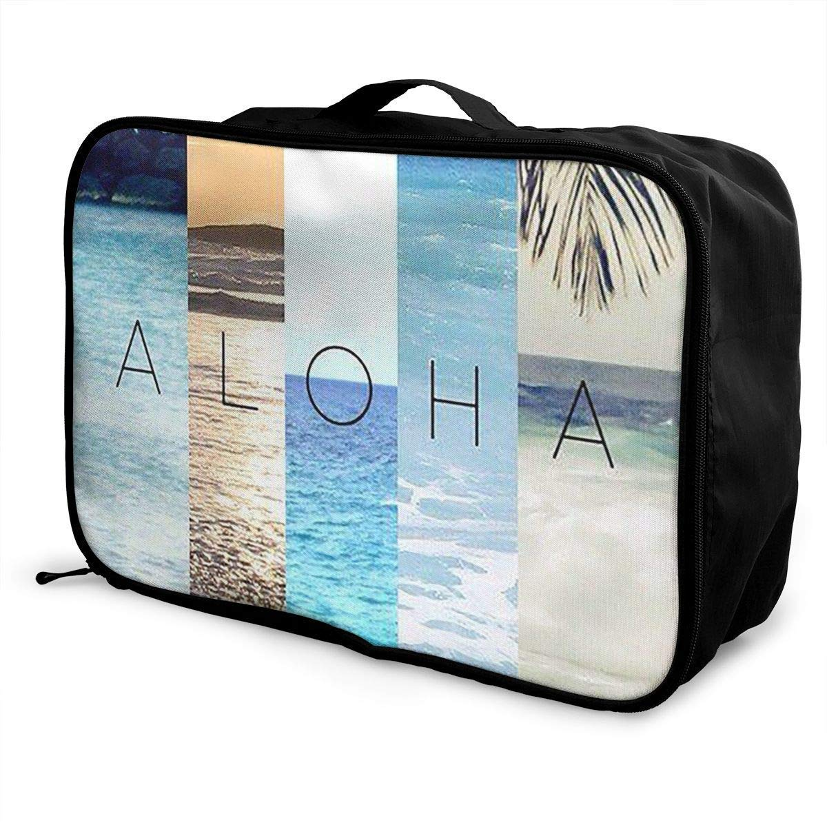 Portable Luggage Duffel Bag Aloha Summer Travel Bags Carry-on in Trolley Handle JTRVW Luggage Bags for Travel
