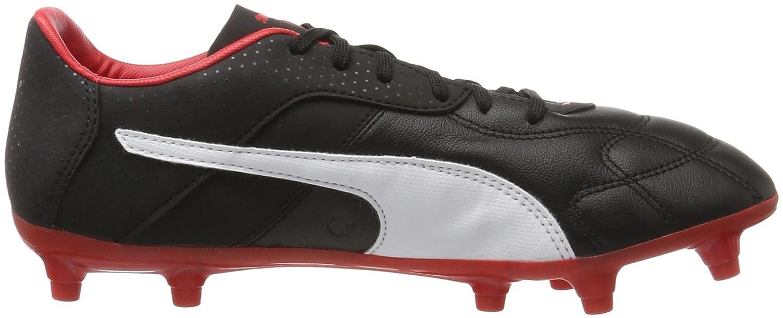 Puma Herren Esito C FG American Football Schuhe, Schwarz Black-White-Red, 46.5 EU