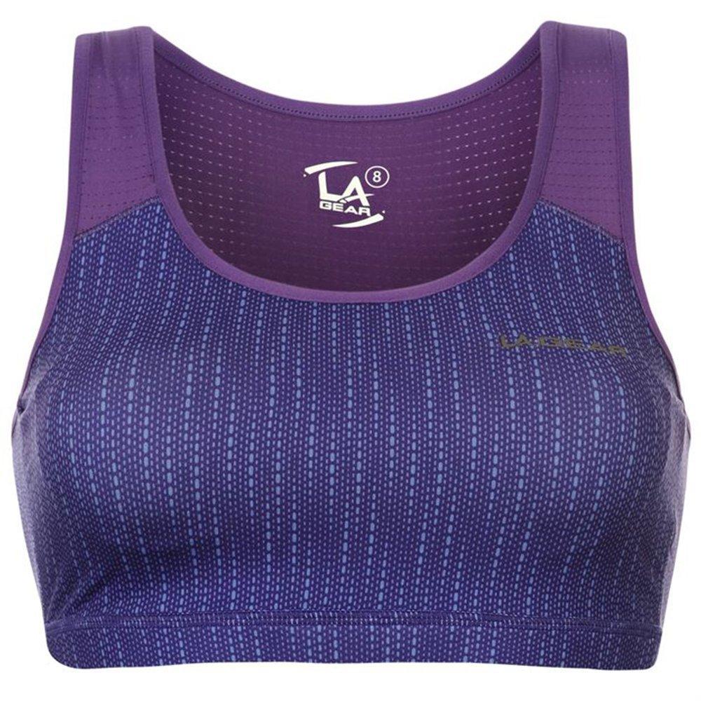 L.A. Gear - Sujetador deportivo - para mujer Multicolor Purple AOP ...