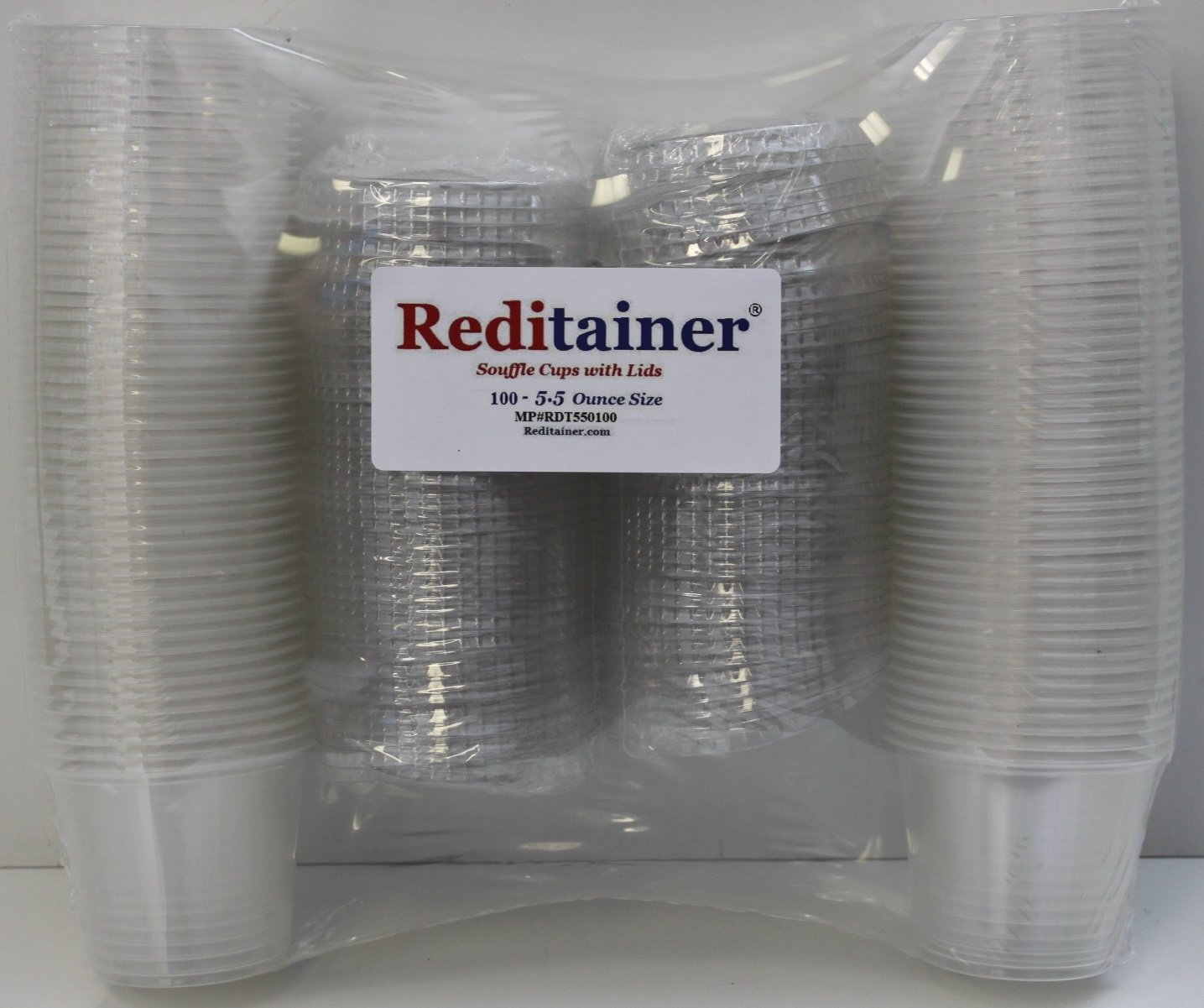 Reditainer Jello Shot Souffle Portion Cups with Lids 250, 1 ounce