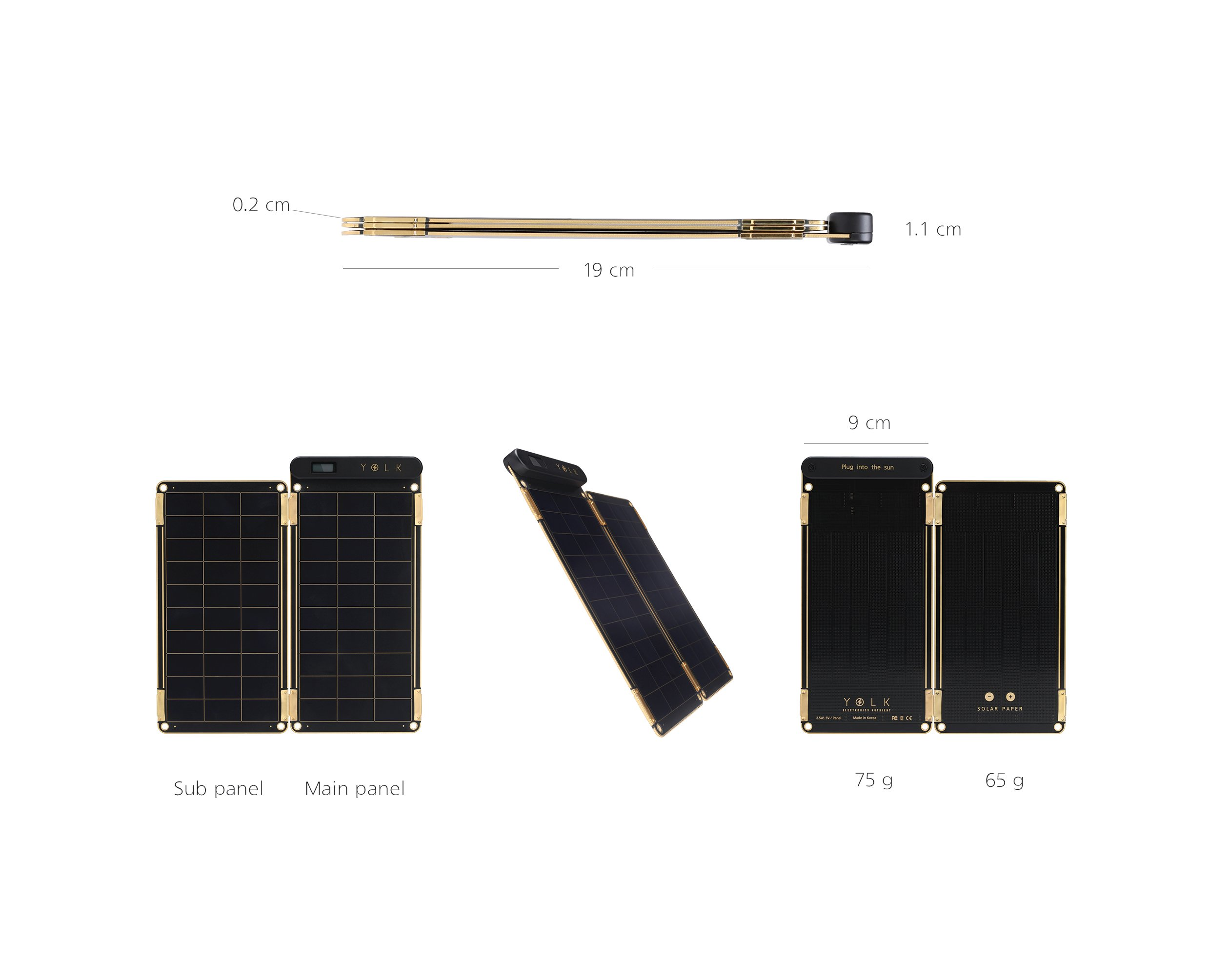 Solar Paper + Pouch, Paper-thin and Light Portable Solar Charger with Ultra-High-Efficiency (5W) by YOLK (Image #2)