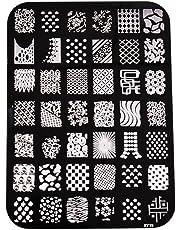 Bullidea 1 Pcs Multi-pattern DIY Nail Art Image Stamp Plates Printing Manicure Template Nail Art Decor Image Mold Plate Beauty Tool Supplies for Women
