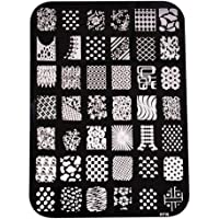 Bullidea 1 Pcs Multi-pattern DIY Nail Art Image Stamp Plates Printing Manicure Template Nail Art Decor Image Mold Plate Beauty Tool Supplies for Women