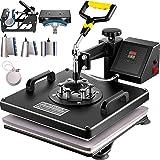 "VEVOR Heat Press Machine 15""x15"" 8 in 1 Combo Digital Multifunctional Sublimation Heat Transfer Machine Dual LED Display 360"