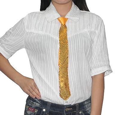 Mujer elegante Ajustable con cremallera lentejuelas Embellished ...