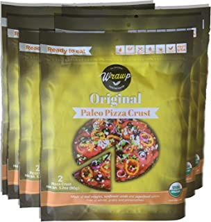 product image for Paleo Pizza Crust | 6 Pack Original Flavored Organic Gluten Free, Dairy Free, Soy Free, Nut Free and Vegan Pizza Crust