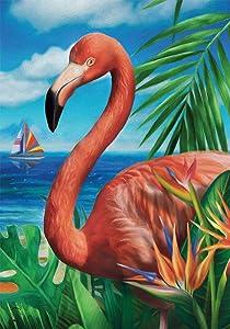 "Briarwood Lane Flamingo Paradise Summer Garden Flag Nautical 12.5"" x 18"""