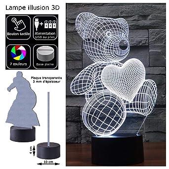 Illusion Alimentation Micro Usb Ou 3d Deco 7 Couleurs Piles Led wN8n0m