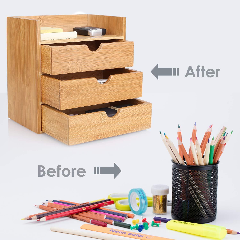 LOOITUY Schreibtisch Organizer 20x13x21cm Aufbewahrungsbox Organisation Stiftebox Stiftek/öcher Stiftehalter Schreibtischorganizer