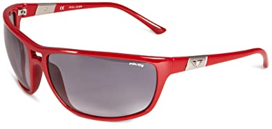 Police S1716 09FC - Gafas de sol para hombre estilo envolvente, color rojo, talla única