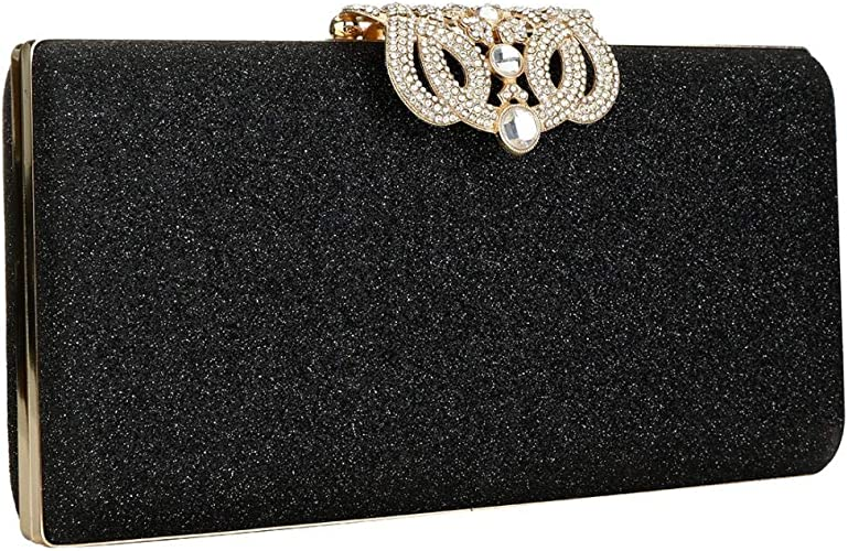 Ladies Envelope Flat Party Occasion Shoulder Strap Wedding Clutch Bags