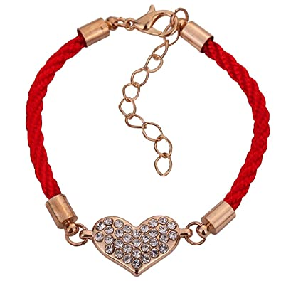 Sojewe White Gold Plated Heart Pendant Red Swarovski Elements Crystal for Women,Teen Girl