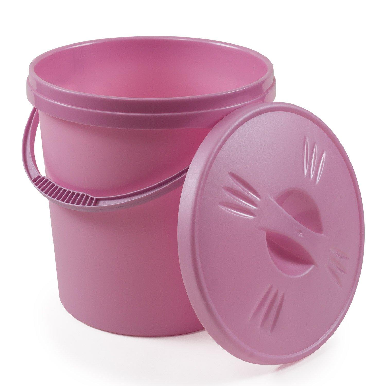Junior Joy Economy Nappy Bucket with Lid (Pink) 031192PI