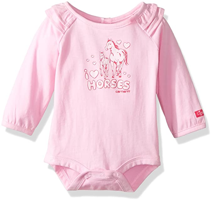 b917a8a44 Amazon.com: Carhartt Baby Girls' Little Long Sleeve Bodyshirt: Clothing