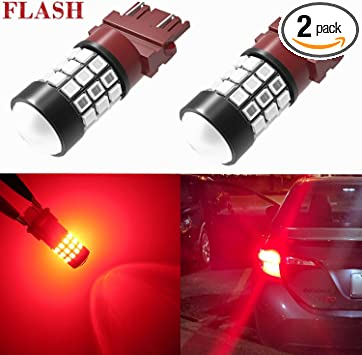 2 X 3157 3057X 45-SMD Amber Yellow Turn Signal Blinker DRL LED Lamp Light Bulbs