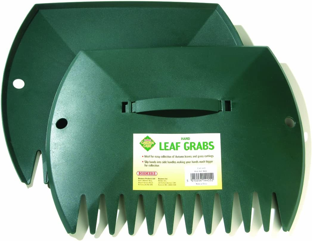 Outdoor Garden Picker Tool Leaves /& Rubbish Collector Bosmere Hand Leaf Grabs