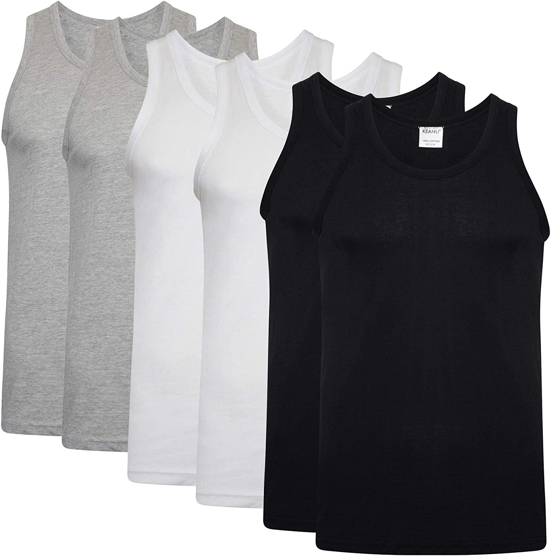 Ladies BM COLLECTION Vest Top Plain Size XL Sleeveless Vest 100/% Cotton Summer